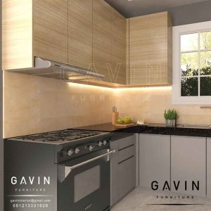bikin kitchen set dapur kotor minimalis modern finishing hpl Q2906