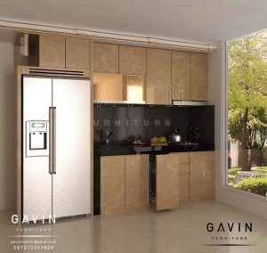 design 3D kabinet dapur minimalis modern 2018 by gavin furniture Q2676