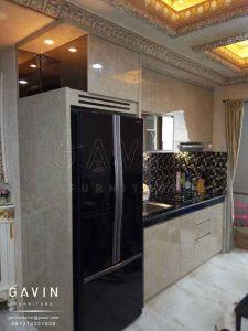 kabinet dapur minimalis modern finishing HPL project di ancol Q2676