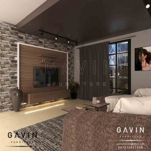 design backdrop tv minimalis modern keramik batu project di Pejompongan by Gavin Q2878