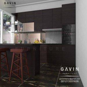lemari dapur dengan meja island design minimalis project duri kepa Q2925