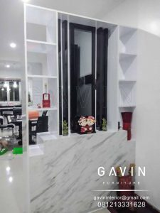 design partisi ruangan minimalis modern finishing hpl by gavin