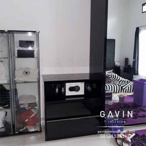 nakas tempat tidur minimalis warna hitam project Tanjung Barat Q3175