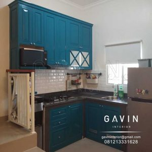 model kitchen set klasik hijau tosca finishing duco semi klasik semi glossy di jagakarsa Q3169