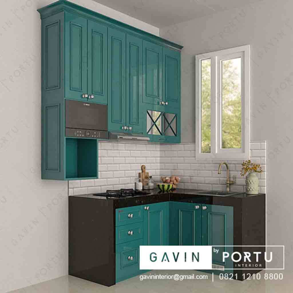 Model Kitchen Set Klasik Hijau Tosca Project Cipedak Jagakarsa ...