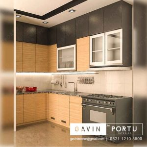 model kitchen set papan upvc minimalis project bekasi Q3135