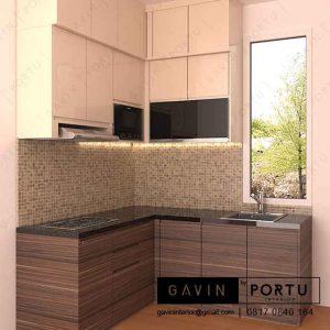 buat design lemari dapur kecil di Bintaro id3220