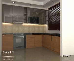 gambar design kitchen set hpl glossy by Gavin Furniture id3232
