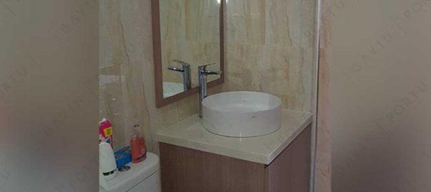 kabinet wastafel kamar mandi minimalis project di Bekasi id3269