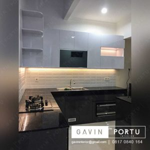 kitchen set dan meja makan minimalis finishing hpl di bintaro id3194