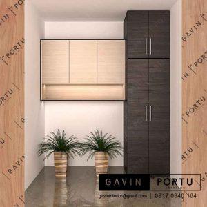 design lemari gantung kabinet minimalis project sunter agung podomoro id3207