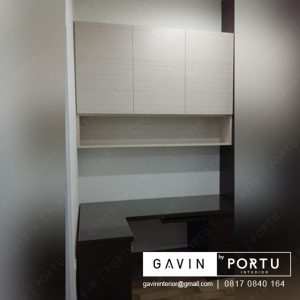 lemari gantung kabinet letter i finishing hpl by Gavin Furniture id3207