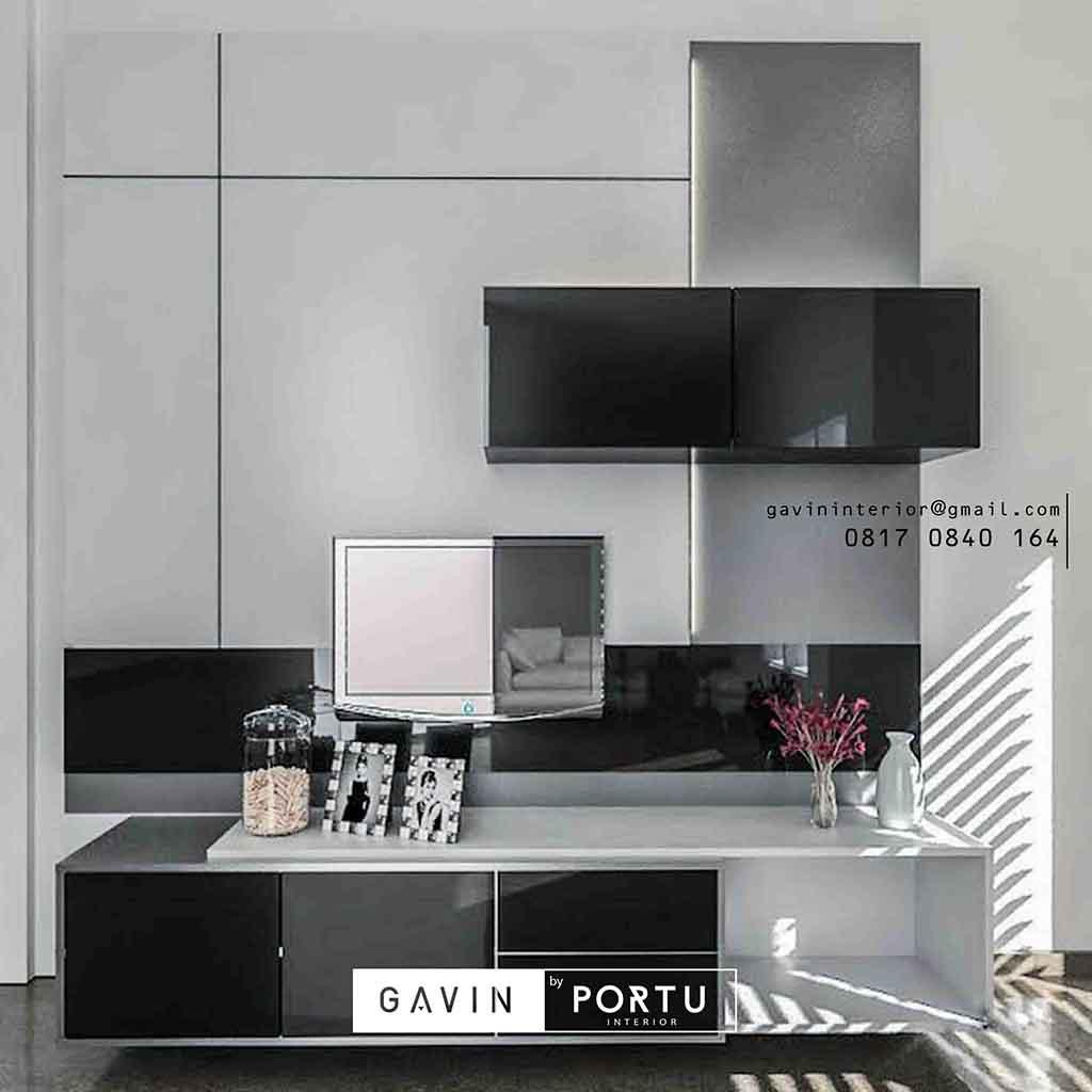 Backdrop Tv Home Interior Minimalis Kitchen Set Jakarta