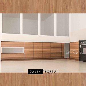 contoh kabinet bawah dapur design minimalis letter L project di Pluit id3251