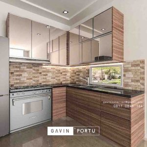 contoh kitchen set cermin design minimalis project di pasar minggu id3257
