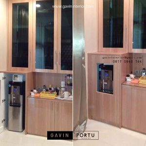 design kabinet dispenser minimalis project permata hijau id3422