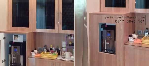 design kabinet dispenser minimalis project permata hijau id3422