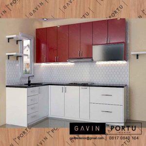 lemari dapur kotor minimalis project di Depok Gavin by Portu id3280