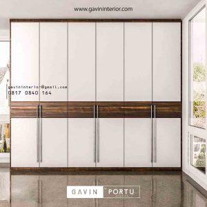 model lemari pakaian pintu swing minimalis Gavin by Portu id3427
