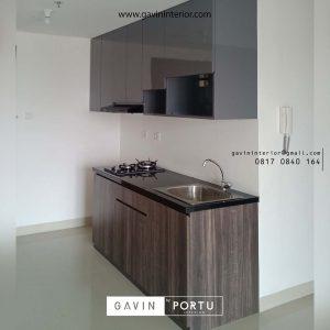 contoh kitchen set untuk apartemen minimalis grey project di jakarta timur id3454