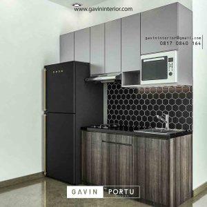 design kitchen set untuk apartemen minimalis letter i di jakarta timur id3454
