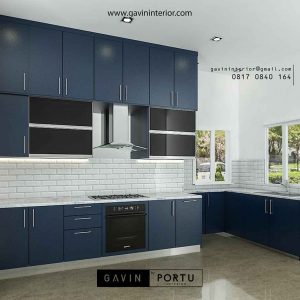 gambar kitchen set dapur basah model minimalis letter i by Gavin id3286
