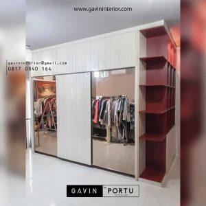 lemari pakaian pintu geser minimalis dan buku project lebak bulus id3177