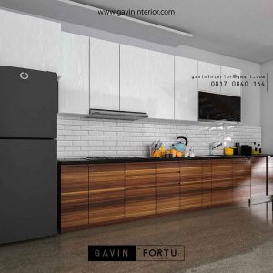 contoh kitchen set dapur design minimalis kombinasi warna id3428