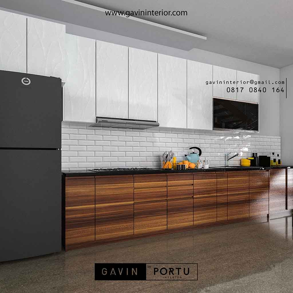 Kitchen Set Warna Orange: Kitchen Set Minimalis