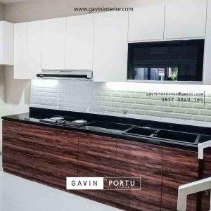 contoh kitchen set dapur letter i minimalis Gavin by Portu id3428