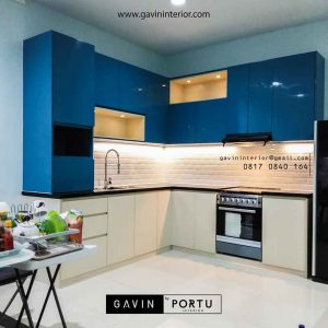 design kitchen set modern kombinasi warna project di pik id3391