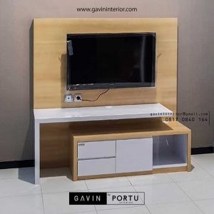 contoh backdrop tv minimalis simple project di Bekasi id3415