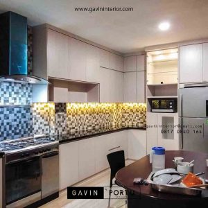contoh lemari dapur hpl design minimalis bintaro id3414