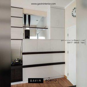 contoh partisi ruangan minimalis modern di kebayoran residence id3549