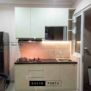contoh design kitchen set bentuk i by Gavin id3249