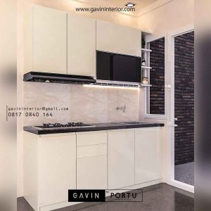 design kitchen set bentuk i minimalis project di Serpong id3249