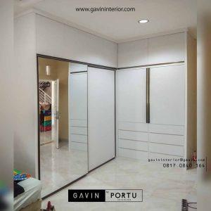 gambar lemari sliding door minimalis letter L Gavin by Portu id3586