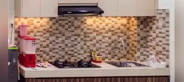 jasa kitchen set minimalis mungil bentuk i project di pisangan timur id3635