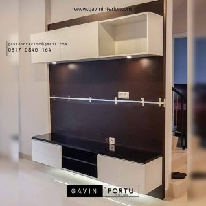 contoh backdrop tv minimalis hpl dari Gavin by Portu id3524