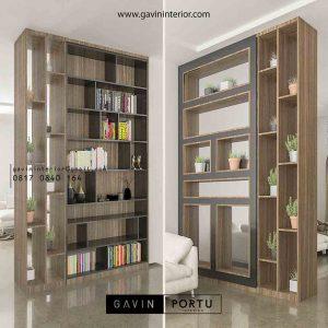 contoh design partisi dengan pintu kaca Gavin by Portu id3604