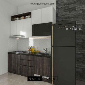 design kitchen set minimalis modern Apartemen Bintaro id3651
