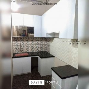contoh kitchen set design model letter L minimalis di Cipayung id3598