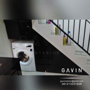 lemari bawah tangga untuk mesin cuci