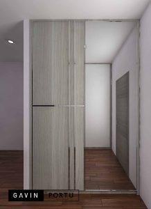 contoh lemari sliding minimalis modern pintu cermin id3793