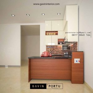 design kitchen set custom minimalis modern kombinasi warna id3551