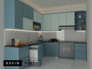 jual kitchen set design custom di Gavin by Portu id3679