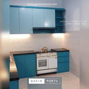 jual kitchen set warna biru muda custom di Gavin by Portu id3679