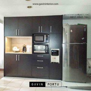 jual lemari dapur kering untuk dispenser dan oven di Gavin by Portu id3447