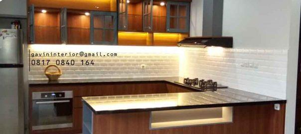 kitchen set design modern dapur kering dengan island id3695