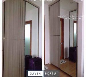 model lemari sliding minimalis kombinasi cermin Gavin by Portu id3793